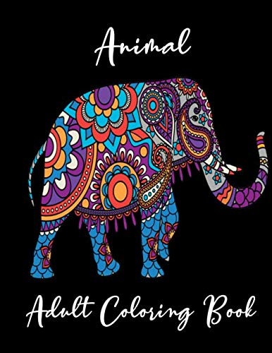 Animal Adult Coloring book: Mandala animal line art design adult coloring for Stress Relief