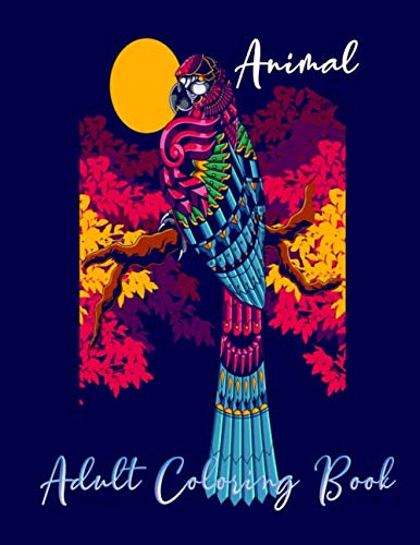 Animal Adult Coloring book: Mandala animal line art design adult coloring for relaxation